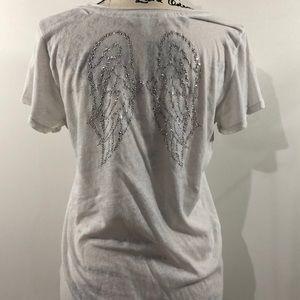 VS white burnout fabric tee